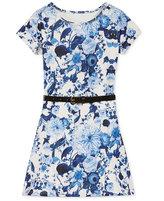 GUESS Floral-Print Scuba Dress, Big Girls (7-16)