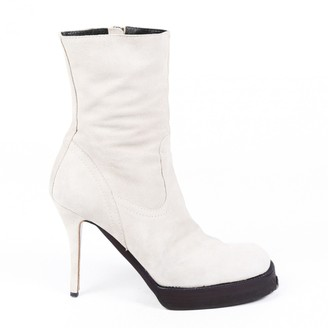 Rick Owens Beige Leather Boots