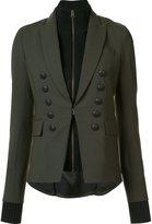 Veronica Beard layered zip blazer