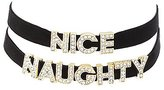 Charlotte Russe Naughty & Nice Choker Necklaces - 2 Pack