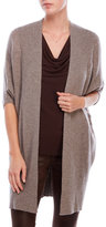 Sofia Cashmere Three-Quarter Sleeve Cashmere Duster