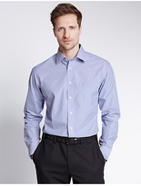 M&S Collection 2in Longer Easy to Iron Shirt with Pocket