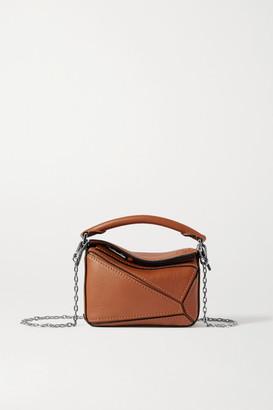 Loewe Puzzle Nano Leather Shoulder Bag - Tan
