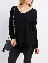 Charlotte Russe Oversized Drop Shoulder Sweater