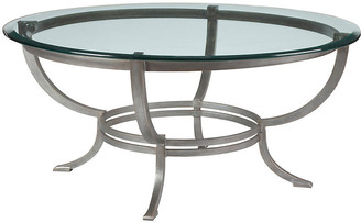Artistica Andress Coffee Table - Argento Silver frame, argento silver; glass, clear