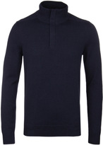 Boss Bonny Navy Funnel Neck Sweater