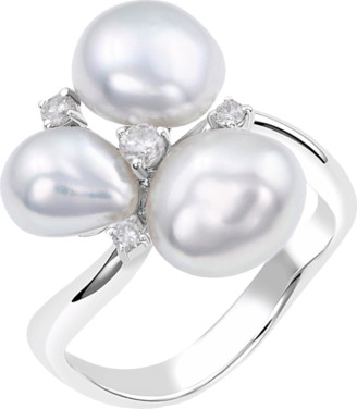 Baggins Three White South Sea Pearl Cluster Ring