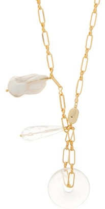 Timeless Pearly Pearl, Crystal & 24kt Gold-plated Pendant Necklace - Gold