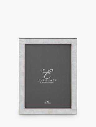 WIDDOP and Co. Elegance by IMPRESSIONS Mother Of Pearl Photo Frame, White