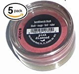 Bare Escentuals (PACK OF 5) Bare Minerals PINK DIAMOND Blush Makeup. SHEER PINK SHEEN. ideal for ALL Skin Types. PURE BLEND OF 100% NATURAL MINERALS! (Pack of 5 Compacts, .02oz Each)