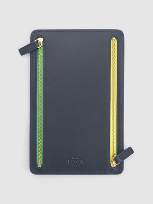 ROYCE New York RFID Blocking Four Zip Travel Organizer