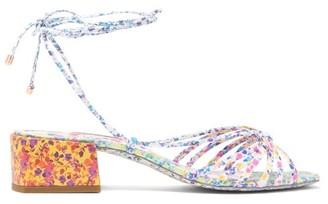 Sophia Webster Laurellie Floral-print Leather Wrap Sandals - Womens - Multi