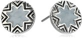 House Of Harlow Enameled Engraved Mini Sunburst Stud Earrings