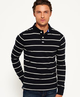 Superdry Miami Stripe Long Sleeve Polo Shirt