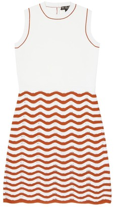 Loro Piana Kids Wavy Water cotton and silk dress