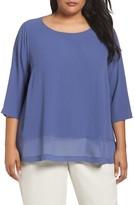 Eileen Fisher Plus Size Women's Silk Georgette Top
