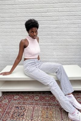 Juicy Couture Silver Velour Track Pants - Silver M at Urban Outfitters