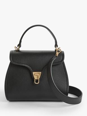 Coccinelle Marvin Mini Leather Shoulder Bag, Noir