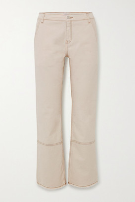 By Malene Birger Helia Frayed High-rise Straight-leg Jeans - Cream