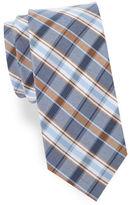 Cole Haan Plaid Cotton-Blend Tie
