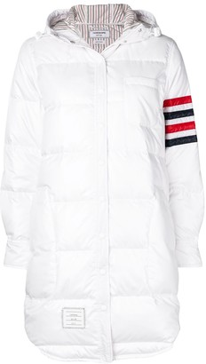 Thom Browne Hooded Down Ripstop Shirtdress