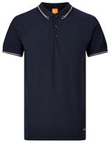 Hugo Boss Boss Orange Pejo Short Sleeve Polo Top, Dark Blue