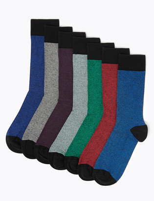 Marks and Spencer 7 Pack Cotton Rich Cool & Fresh Socks