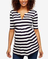Isabella Oliver Maternity Striped A-Line Top