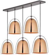 west elm Rejuvenation Haleigh Wire Dome Chandelier, Linear Canopy -Polished Copper