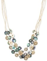 Thumbnail for your product : lonna & lilly Gold-Tone Tube Chain Multi-Disc Collar Necklace