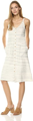 Lucky Brand Women's Button UP Knit Dress in Natural Multi XL
