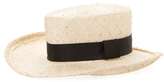 Brigitte Cowboy Trim Hate Boater Hat