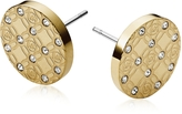 Michael Kors Heritage Metal Earrings w/Crystals