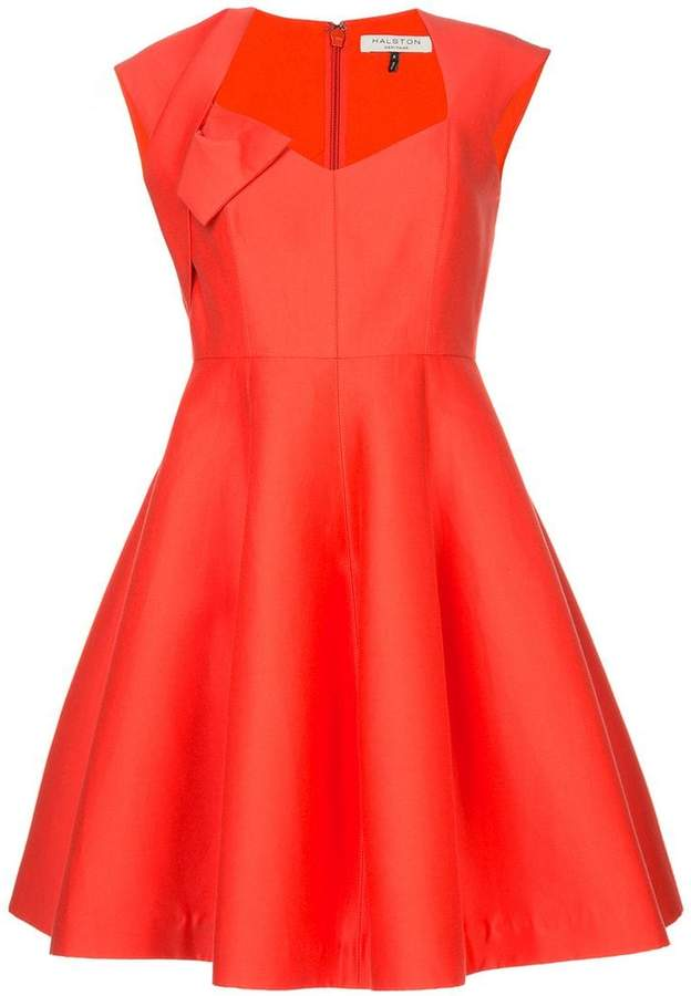 Halston sweatheart neck dress