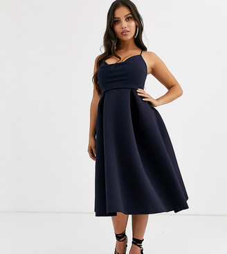 ASOS DESIGN Petite cowl neck cami midi prom dress