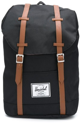 Herschel Drawstring Backpack With Double Buckle Fastening