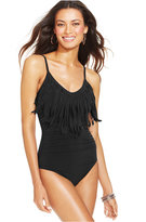 Magicsuit Fringed Ruched One-Piece Swimsuit