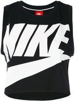 Nike logo cropped tank top - women - Polyester/Modal - S
