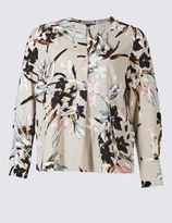 Marks and Spencer PLUS Floral Print Long Sleeve Tunic