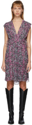 Isabel Marant Black and Multicolor Oaxoli Dress
