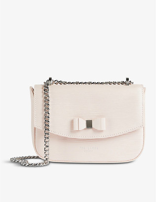 Ted Baker Doilly bow-detail leather cross-body bag