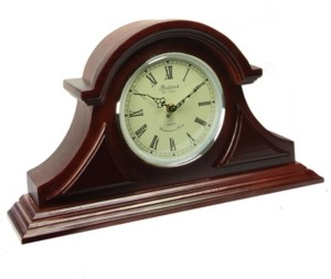 Bedford Clock Collection Tambour Mantel Clock with Chimes