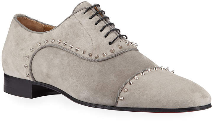 new styles 97f15 244d1 Men's Eton Spiked Suede Oxford Shoes
