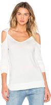 David Lerner Long Sleeve Cold Shoulder Tee