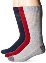 Levi's Men's 3-Pack Solid Casual Crew Socks