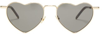 Saint Laurent Lou Lou Heart Metal Sunglasses - Gold Multi