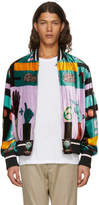 Valentino Multicolor Velvet Counting Bomber Jacket