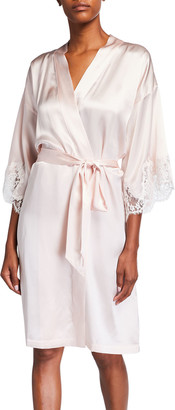 Lise Charmel Splendeur Lace-Trim Silk-Blend Robe