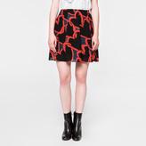Paul Smith Women's 'Chain-Link Heart' Print Silk Mini Skirt