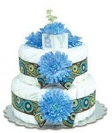 Bloomers Baby Small Blue Mums Diaper Cake